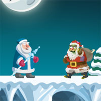 Free online flash games - Zombie Santas Attack game - WowEscape