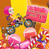 Free online flash games - Candy Motocross Crash 2 game - WowEscape