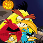 Free online flash games - Angry Birds War Of Pumpkin game - WowEscape