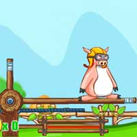 Free online flash games - Teach Pig Flying game - WowEscape