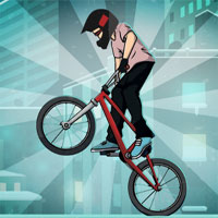 Free online flash games - Bmx Winter Rooftops game - WowEscape