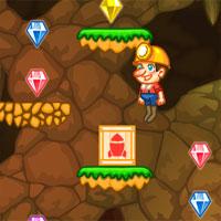 Free online flash games - Jumping Miner PlatformGames game - WowEscape