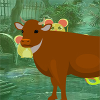 Free online flash games -  G4K Brown Cow Escape