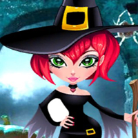 Free online flash games - Palani Scary Palace Witch Escape