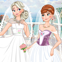 Free online flash games - Frozen Sisters Double Wedding game - WowEscape