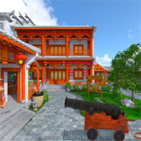 Free online flash games - FirstEscapeGames Chinese Residence game - WowEscape