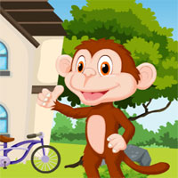 Free online flash games - G4K Cartoon Monkey Rescue game - WowEscape