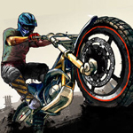 Free online flash games - Wasteland Bike Trial game - WowEscape