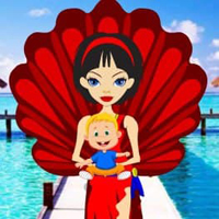 Free online flash games - Paradise Island Kiddo Escape HTML5