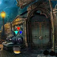 Free online flash games - 8bGames Halloween Abandoned Palace Escape game - WowEscape