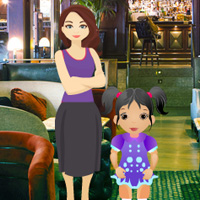 Free online flash games - Little Girl Restaurant Escape