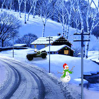 Free online flash games - EnaGames The Frozen Sleigh-White Rush Street Escap game - WowEscape