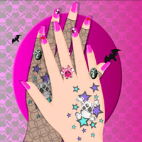 Free online flash games - Emo Style Manicure game - WowEscape