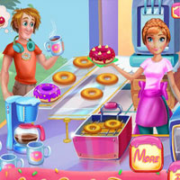 Free online flash games - Annie Cooking Donuts Click4Games game - WowEscape