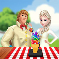 Free online flash games - Rainbow Ice Cream Cooking game - WowEscape