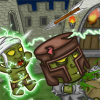 Free online html5 games - Knights vs Zombies game