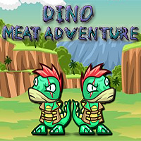 Free online flash games - Dino Meat Adventure game - WowEscape