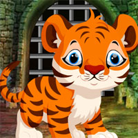 Free online flash games - Games4King Cute Tiger Cub Rescue game - WowEscape