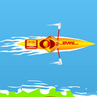 Free online flash games - DHL Boat game - WowEscape