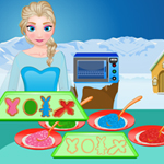 Free online html5 games - Elsa Stained Glass Cookies game