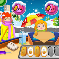 Free online flash games - Christmas Pancake Shop game - WowEscape