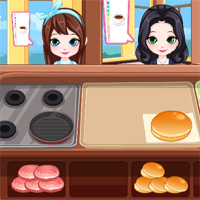 Free online flash games - Burger And Hotdog Stand ColorDesignGames game - WowEscape