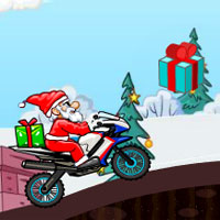 Free online flash games - Santa Bike Racing game - WowEscape