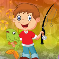 Free online flash games - G4K Gleeful Fishing Boy Escape