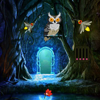 Free online flash games - Escape from Fireflies Magical Forest Wowescape game - WowEscape