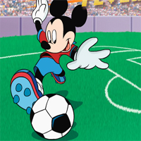 Free online flash games - Mickeys Soccer Fever game - WowEscape