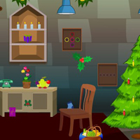 Free online html5 games - Christmas Dark Room Escape 2 game