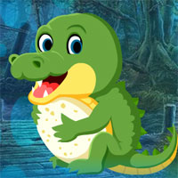 Free online flash games - G4K Tiny Crocodile Escape