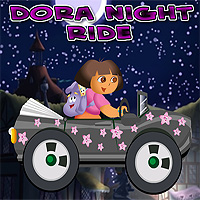 Free online flash games - Dora Night Ride game - WowEscape