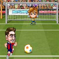 Free online flash games - Barca Goal 2 game - WowEscape