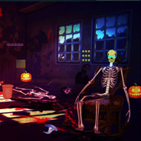Free online flash games - Halloween Zombie House Escape Top10NewGames game - WowEscape