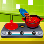 Free online flash games - Pasta With Meatballs game - WowEscape