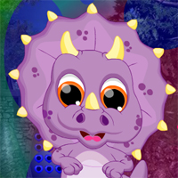 Free online flash games - Games4King Dino Ugly Creature Escape game - WowEscape