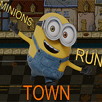 Free online flash games - Minions Town Run game - WowEscape