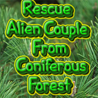 Free online flash games - Rescue Alien Couple from Coniferous Forest game - WowEscape