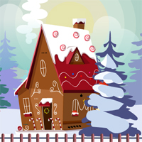 Free online flash games - Christmas Gingerhouse Pet Escape