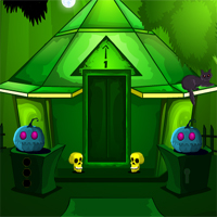 Free online flash games - MirchiGames Find Spooky Treasure Green Street game - WowEscape