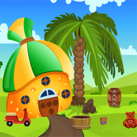 Free online flash games - Games4king Cat Rescue From Mushroom House game - WowEscape