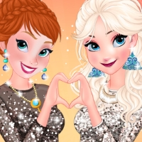 Free online flash games - Anna And Elsa Girls Night Out game - WowEscape