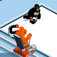 Free online flash games - Monkey Curling Championship 1986 game - WowEscape