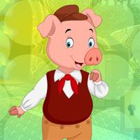 Free online flash games - G4K Cheerful Lady Pig Escape