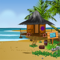 Free online flash games - KnfGames Beach House Resuce Little Girl game - WowEscape