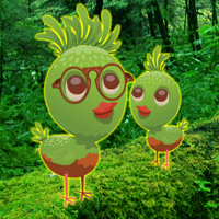 Free online flash games - Rescue Wild Green Chick game - WowEscape