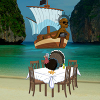 Free online flash games - Pirates Island Thanksgiving Escape game - WowEscape