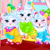 Free online flash games - Baby kitty hair salon game - WowEscape