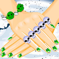Free online flash games - Creepy Nail Art game - WowEscape